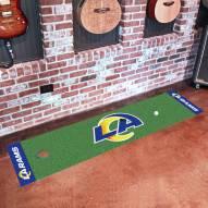 Los Angeles Rams Golf Putting Green Mat