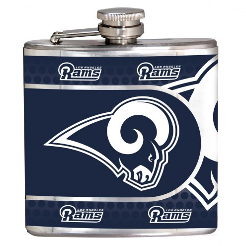 Los Angeles Rams Hi-Def Stainless Steel Flask