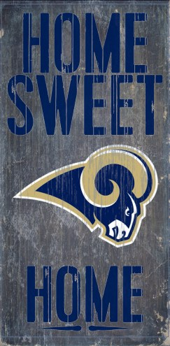 Los Angeles Rams Home Sweet Home Wood Sign