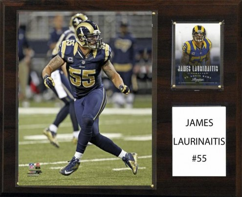 "Los Angeles Rams James Laurinaitis 12"" x 15"" Player Plaque"