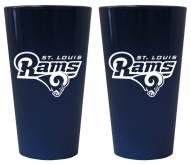 Los Angeles Rams Lusterware Pint Glass - Set of 2