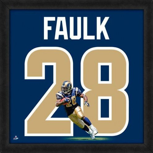 Los Angeles Rams Marshall Faulk NFL Uniframe Framed Jersey Photo