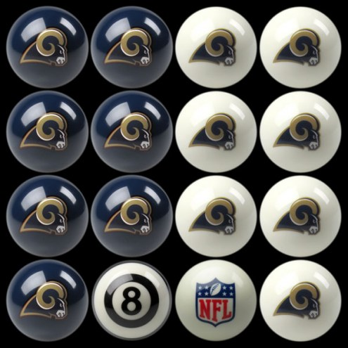 Los Angeles Rams NFL Home vs. Away Pool Ball Set