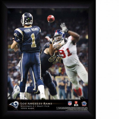 Los Angeles Rams Personalized 11 x 14 NFL Action QB Framed Print