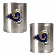 Los Angeles Rams Stainless Steel Can Coozie Set