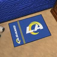 Los Angeles Rams Uniform Inspired Starter Rug