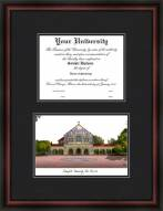 Stanford University Diplomate Framed Lithograph with Diploma Opening
