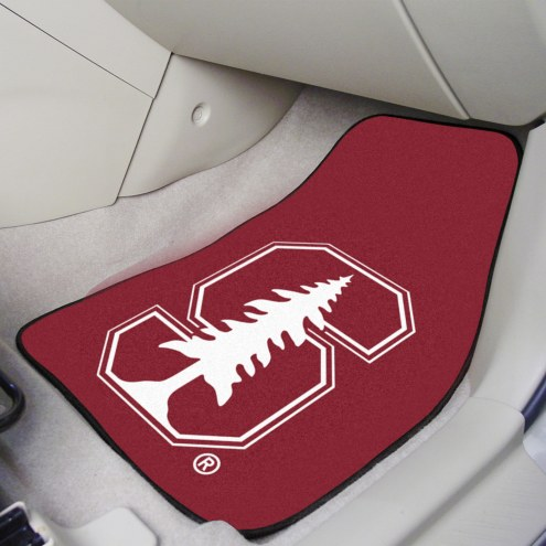Stanford Cardinal 2-Piece Carpet Car Mats