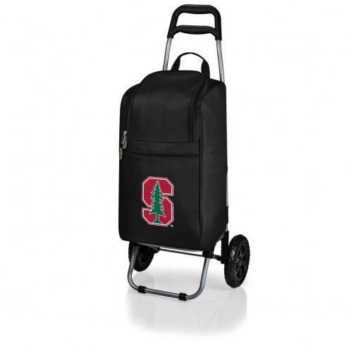 Stanford Cardinal Black Cart Cooler