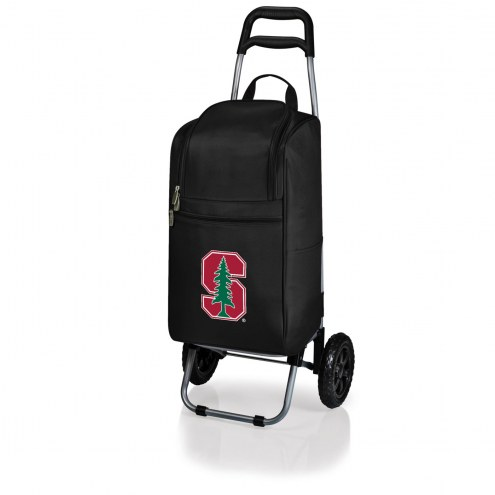 Stanford Cardinal Black Cart Cooler