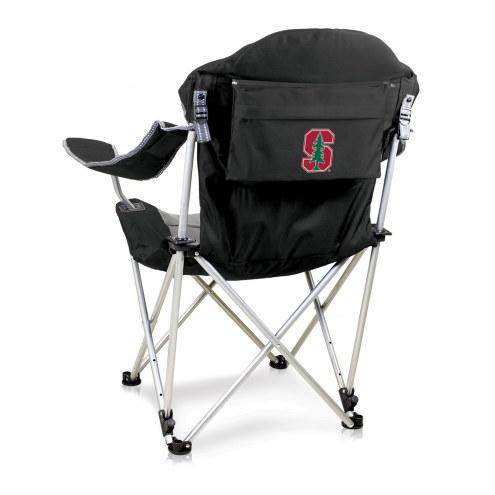 Stanford Cardinal Black Reclining Camp Chair