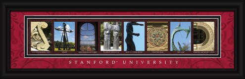 Stanford Cardinal Campus Letter Art