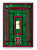 Stanford Cardinal Glass Single Light Switch Plate Cover