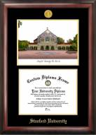 Stanford Cardinal Gold Embossed Diploma Frame with Lithograph