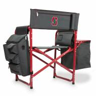 Stanford Cardinal Gray/Red Fusion Folding Chair