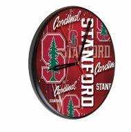 Stanford Cardinal Digitally Printed Wood Clock
