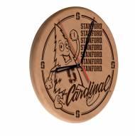 Stanford Cardinal Laser Engraved Wood Clock