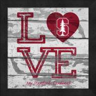 Stanford Cardinal Love My Team Square Wall Decor