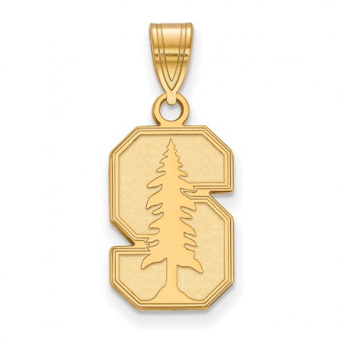 Stanford Cardinal NCAA Sterling Silver Gold Plated Medium Pendant