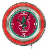 Stanford Cardinal Neon Clock