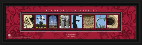 Stanford Cardinal Personalized Campus Letter Art