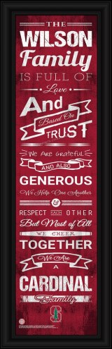Stanford Cardinal Personalized Family Cheer Framed Art