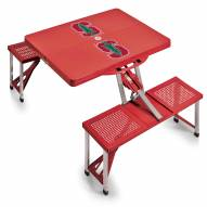Stanford Cardinal Red Folding Picnic Table