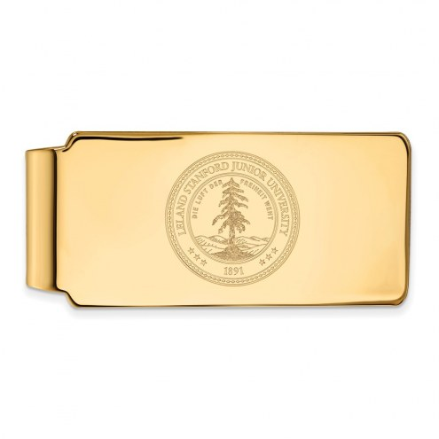 Stanford Cardinal Sterling Silver Gold Plated Crest Money Clip