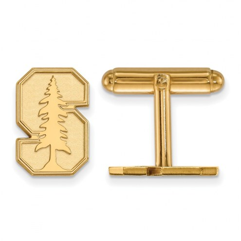 Stanford Cardinal Sterling Silver Gold Plated Cuff Links