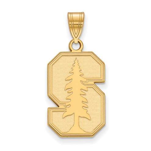 Stanford Cardinal Sterling Silver Gold Plated Large Pendant