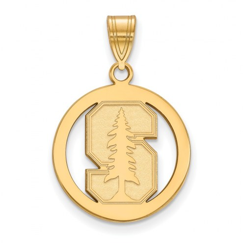 Stanford Cardinal Sterling Silver Gold Plated Medium Pendant