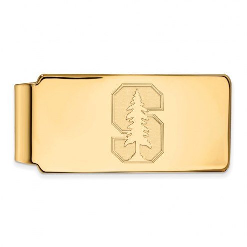 Stanford Cardinal Sterling Silver Gold Plated Money Clip