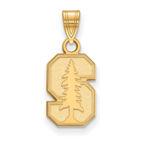 Stanford Cardinal Sterling Silver Gold Plated Small Pendant