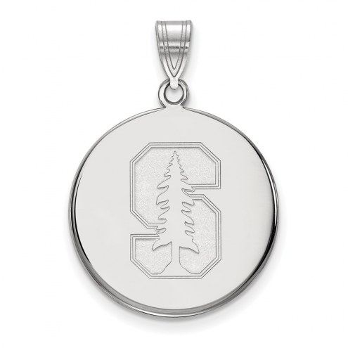 Stanford Cardinal Sterling Silver Large Disc Pendant