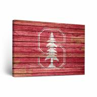 Stanford Cardinal Weathered Canvas Wall Art