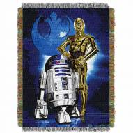 Star Wars Droid Blues Throw Blanket