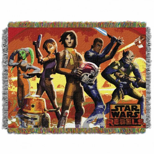 Star Wars Red Hot Rebels Throw Blanket