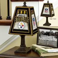 Pittsburgh Steelers NFL Hand-Painted Art Glass Table Lamp
