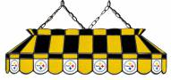 """Pittsburgh Steelers NFL Team 40"""" Rectangular Stained Glass Shade"""