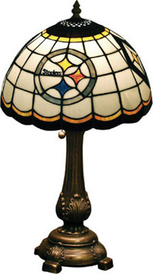 Pittsburgh Steelers NFL Stained Glass Table Lamp