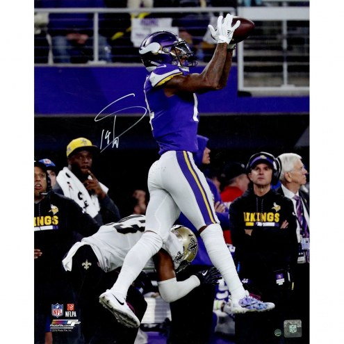 Stefon Diggs Signed 'Minnesota Miracle Game Winning Catch Photo from NFC Divisional Win vs Saints' 16x20 Photo