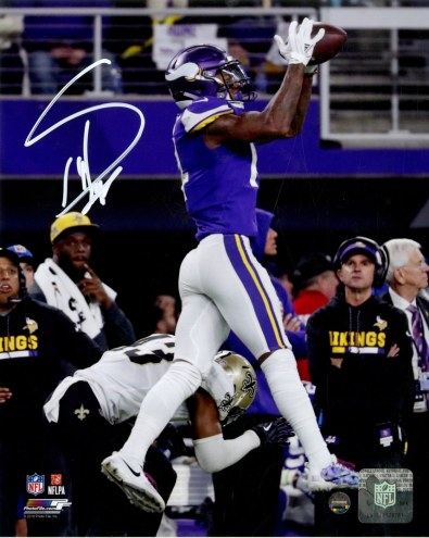 Stefon Diggs Signed 'Minnesota Miracle Game Winning Catch Photo from NFC Divisional Win vs Saints' 8x10 Photo