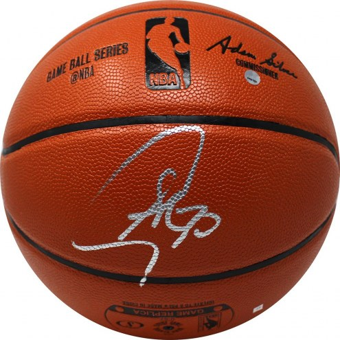 Stephen Curry Signed Spalding I/O NBA Basketball