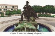 Stephen F. Austin State Lumberjacks Campus Images Lithograph