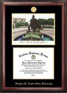 Stephen F. Austin State Lumberjacks Gold Embossed Diploma Frame with Lithograph