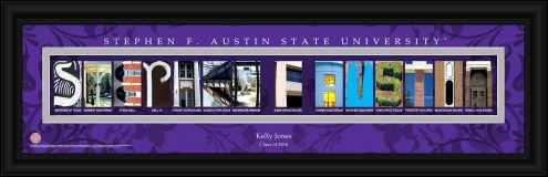 Stephen F. Austin State Lumberjacks Personalized Campus Letter Art