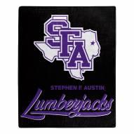 Stephen F. Austin State Lumberjacks Signature Raschel Throw Blanket