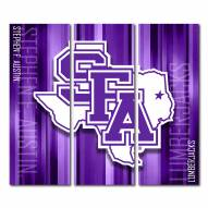 Stephen F. Austin State Lumberjacks Triptych Rush Canvas Wall Art
