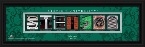 Stetson Hatters Personalized Campus Letter Art