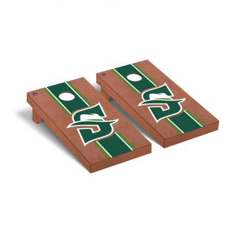 Stetson Hatters Rosewood Stained Stripe Cornhole Game Set